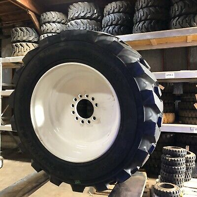 10x16.5 Solideal 8 Ply Pneumatic Tire & Rim Moffet Forklift Tires NashFuel