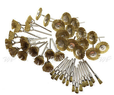 45 Piece Stainless Steel Wire Brush Set Tool Rotary Die Grinder Removal Wheel