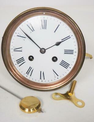 Good Spare Clock Movement French 8 Day Mantel Clock Movement + Key & Pendulum 18