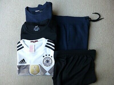 Boys 5 piece sports clothes bundle - approx age 8 to 10 - Adidas Germany shirt