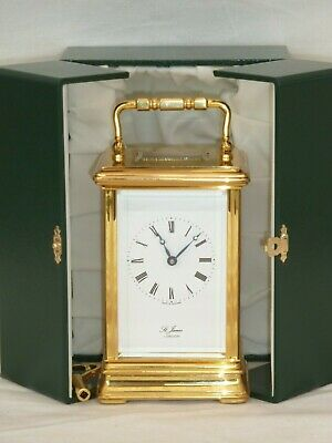 Superb St. James of London 8 Day Gold Plated Carriage Mantle Clock