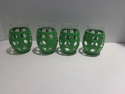 Lifefactory 8 ounce Green Silicone Drinking Glass x 4