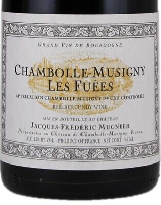 Jacques Frederic Mugnier Chambolle Musigny les Fuées 2017