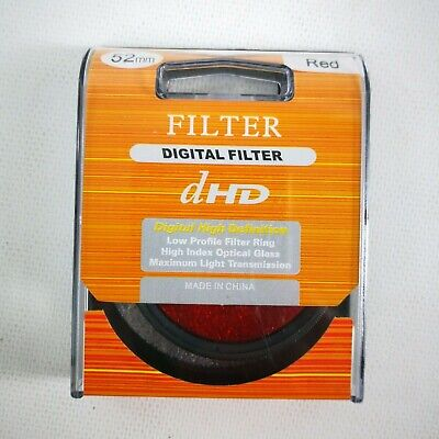 New dHD 52mm Lense Digital Filter Red High Index Optical Glass