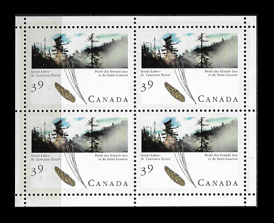 Canada Stamps - Miniature Pane of 4 - Majestic Forest: Acadian Forest #1284a MNH