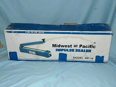 MIDWEST PACIFIC IMPULSE SEALER Model MP-16 Good Working Condition