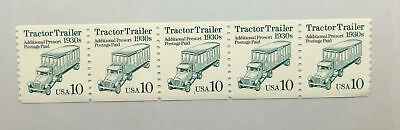 A2ZED US STAMPS #2458 PNC5 1994 10c TRANSPORTATION SERIES TRACTOR TRAILER MNH