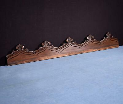 """*29"""" French Antique Gothic Pediment/Crest/Panel in Carved Walnut Wood Salvage"""