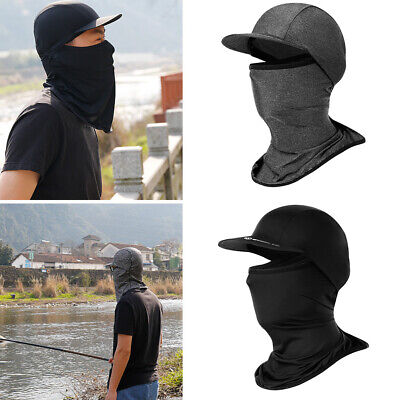 Unisex Summer Outdoor Cycling Fishing UV Protection Full Face Mask Ice Silk New
