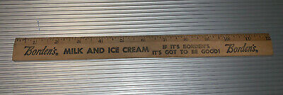 "Vintage 12"" Ruler Borden's Milk And Ice Cream"