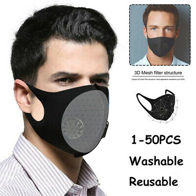 Washable Face Mask Activated Carbon Filter Cycling Mouth Mask Air Purifying Lot