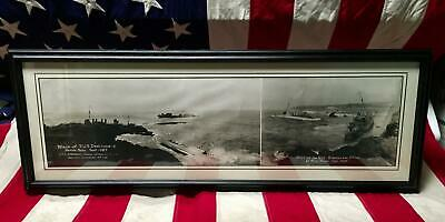 Vintage 1923 US Navy Hondo Point Disaster Panoramic Photograph Wreck Destroyers
