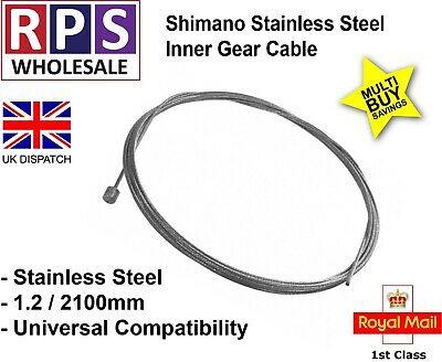 Mountain Bike Gear Inner Cable 1.2mm x 2.1m Shimano Stainless Steel