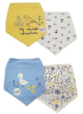 Baby Boy Girl Bibs 2 PACK Bandana Dribble Proof Ideal For Newborn
