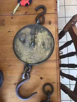 Vintage Salter Scale 20t To Weigh 200lb By 1lb