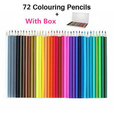 72x Colouring Sketch Pencils Set Non-toxic Art Drawing Oil Pencil Artist Sketch