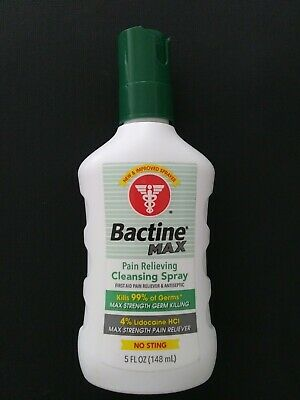 Bayer Bactine Max Pain Relieving Cleansing Spray 5 oz Exp: 7/20