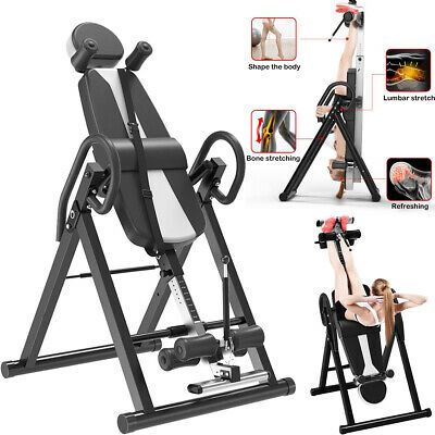 180°Home Folding Inversion Table Fitness Chiropractic Therapy Home Back Stretche