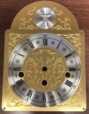 Tempus Fugit Hermle Kieninger Bracket Clock Dial Musical Brass Silver Arched