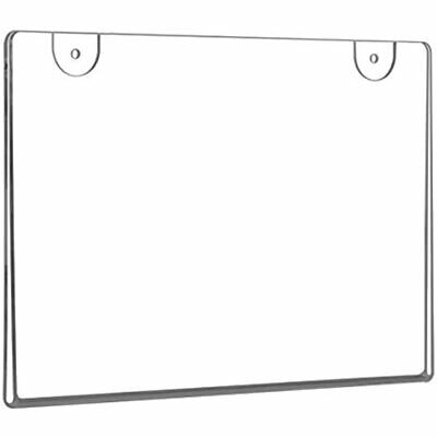 NIUBEE 6 Pack 5x7 Clear Acrylic Sign Holder, Horizontal Wall Mount Plastic Bonus