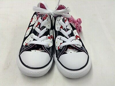 Converse Hello Kitty big face KIDS Casual Shoes BLACK size 10