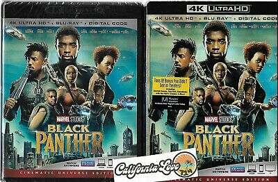 Black Panther 4K Ultra Hd + Blu-Ray + Slipcover Rare Marvel ✔☆Mint☆✔ No Digital