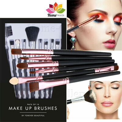 10 Make up Brush Set Professional Foundation Eye shadow makeup Brushes Blusher