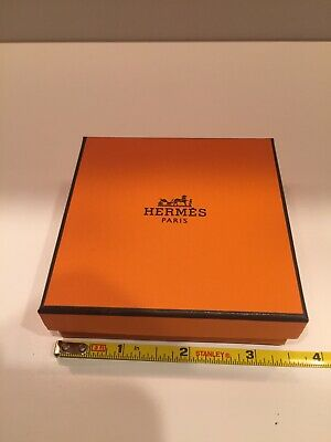 Authentic Hermes Square Empty Box with Pouch  For Bracelet,Accessories Pre-Owned
