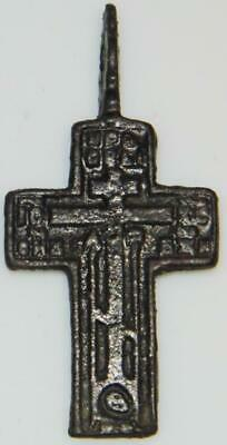 Fine Ancient Byzantine Bronze Cross c.1400 Holy Eastern Orthodox Medieval Church