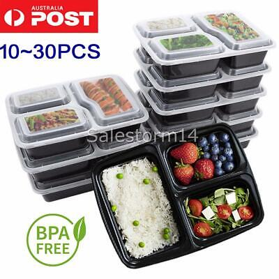 10~30PC Meal Prep Plastic Food Storage Containers Freezer Microwavable Lunch Box