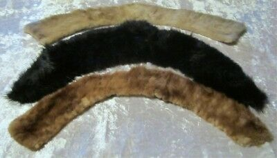 3 Excellent Used Fur Collars Rabbit Mink and ?