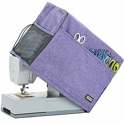 Sewing Machine Dust Cover with Storage Pockets 4 Exterior Pockets Purple