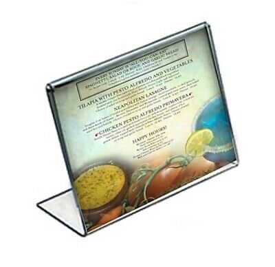 7X5 Clear Acrylic Slanted Ad Sign Holder Display Picture Photo Frame Lot 22 Pcs