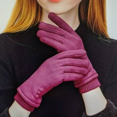 Women *Warm Touch Screen Phone Windproof Gloves Wear Lined Thick Gloves* Size S