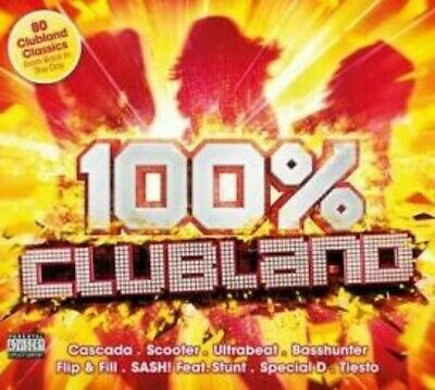 100% Clubland 4 CD Album Box Set Various Artists 80 Classic Hits New Sealed