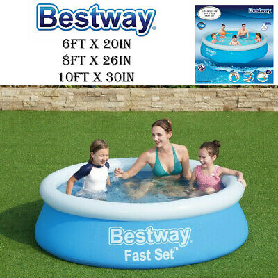 Bestway 6Ft X 20In  Fast Set Family Patio Garden Outdoor Paddling Swimming Pool
