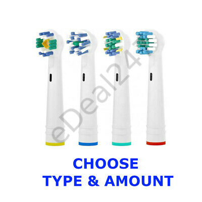 Toothbrush Heads Premium Compatible with Braun Oral B Precision Cross