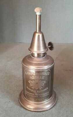Small Antique Brass French Vinters OIl Paraffin Lamp