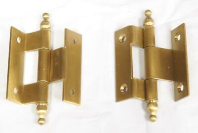 Top Quality Clock Case Double Crank Hinge With Finials 75MM Long
