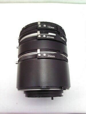 Spiratone 12mm 20mm 36mm Triple Extension Tube MC Camera Lens Set - Minolta Moun