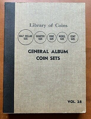 Vintage Coin Folder Library Of Coins Used Condition