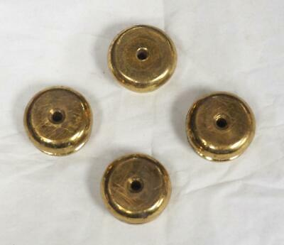 x4 round Ormolu Mantel Clock Feet Brass Bun French Mantel Clock Set Clock Feet