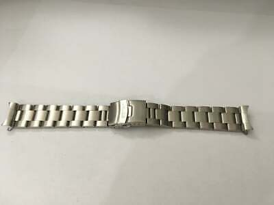 Seiko 22Mm Divers Oyster Stainless Steel Watch Strap / Band Curved End,( Bd-4 )