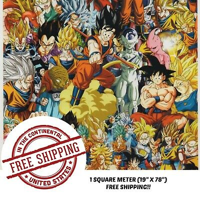 """Hydrographic Film Water Transfer Hydro Dipping Dip Film 19"""" x 78"""" Anime Bomb 4"""