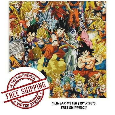 """Hydrographic Film Water Transfer Hydro Dipping Dip Film 19"""" x 38"""" Anime Bomb 4"""