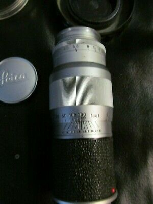 ERNST LEITZ GmbH WETZLAR HEKTOR F=13.5 CM 1:4.5 nr. 1608497 CAMERA LENSE WITH OR
