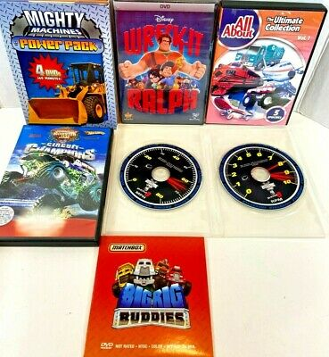 DVD Lot Of 6 Movies Monster Jam World Finals - Mighty Machines - All About