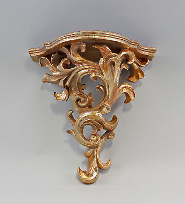 9977381 Golden Wall Console Shelf Resin Antique Style Vintage