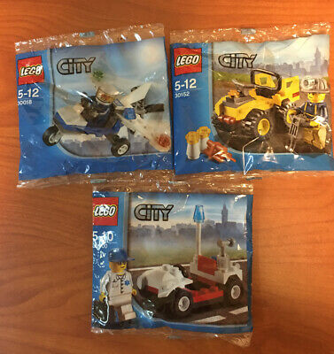 Lot Of 3 Lego City Polybags 30000 / 30018/30152 Free Shipping. S.L.3