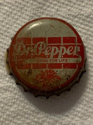 "Vintage Dr Pepper ""Good For Life"" Soda Bottle Cap Sc Tax Stamp Used Cork Lined"